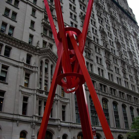 New York en rojo - Fotografía de calle