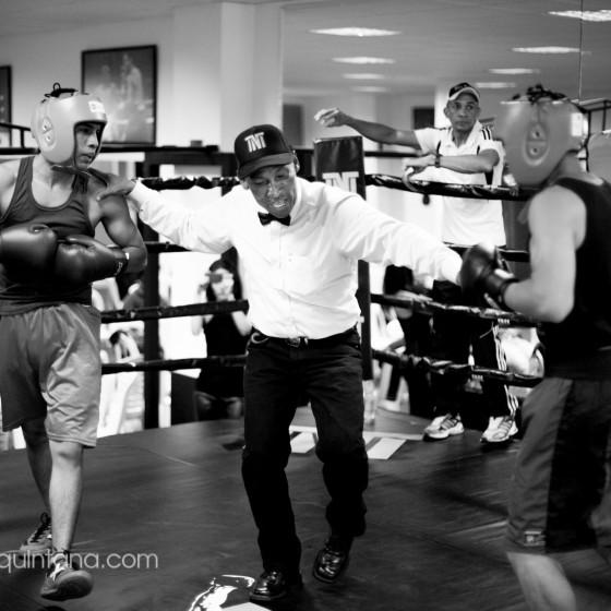Fotografía documental en club de boxeo