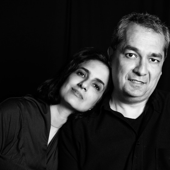 Retrato pareja blanco y negro
