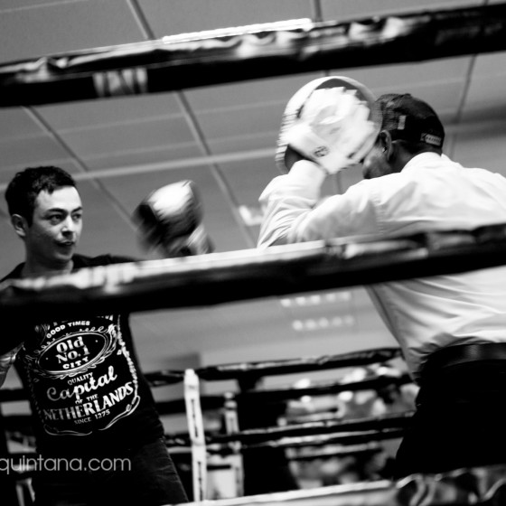 Fotografía documental en club de boxeo